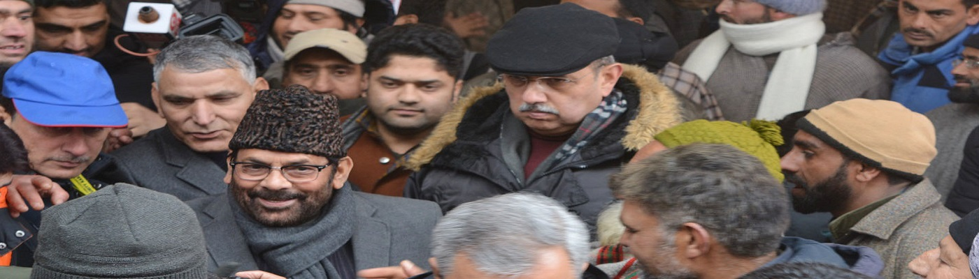 During my two-day visit to Srinagar, I separately met with more than 40 delegations in Fakir Gujri village, Harwan block, Dal area, Lal Chowk area etc. People came from far flung remote areas of Kashmir even in such cold weather conditions and snow fall.