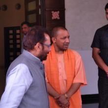 8th April, 2017, Discussed issues of socio-economic-educational empowerment of minorities in state. Atmoshphere of Trust and Development has been created in UP under dynamic leadership of UPCM Shri Yogi Adityanath
