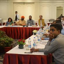 8th April, 2017: Met UP Ministers Shri Baldev Aulakh, Minority Welfare, Shri Mohsin Raza, Haj and Waqf, and senior officials of minority welfare in Lucknow today. Discussed various schemes for Minorities empowerment.