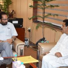 Newly appointed Chairman of National Commission for Minorities Sh Ghayorul Hasan met me at Antyodaya Bhawan dated 30th May 2017.