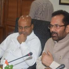 Reviewed various welfare schemes of Minority Affairs Ministry with officials