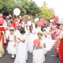 Flagged off Christmas celebration Buon Natale, largest gathering of Santa Claus, at Thrissur (Kerala).