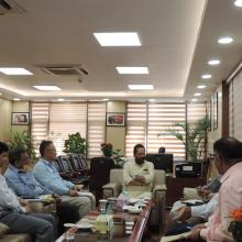 Met a delegation led by J&K Rural Development & Panchayti Raj Minister Shri Abdul Haq Khan at Antyodaya Bhawan in New Delhi today.Officials of Minority Affairs Ministry & J&K Govt discussed various on-going schemes in the state.