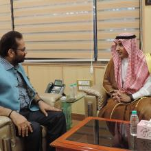 Discussed various issues related to Haj 2017 with Saudi Arabia Ambassador H.E. Dr Mohammed Alsati at Antyodaya Bhawan today.Through H.E. Dr Alsati, I thanked to Saudi Arabia Government for their cooperation which has ensured smooth Haj 2017.