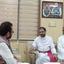 Delegation led by Bishop Theodore Mascarenhas, Sec Gen, Catholic Bishops Conference of India met me today.Delegation thanked PM Sh Narendra Modi and EAM Smt Sushma Swaraj for safe rescue of Father Tom Uzhunnalil from Yemen.
