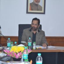 Today chaired Governing Body and General Body meeting of Maulana Azad Education Foundation at Antyodaya Bhawan.