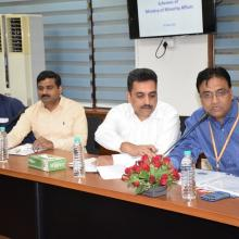 Discussed on progress of various welfare schemes in a review meeting with officials of Minority Affairs Ministry at Antyodaya Bhawan today. Programmes-schemes related to education, employment, development & empowerment are being implemented effectively.