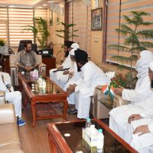 Delegation led by Maulana Mohd. Sajid Rashidi, president All India Imam Association, met me at Antyodaya Bhawan today.Positive discussion held on various development issues of Muslim community especially educational empowerment