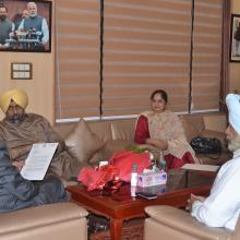 A delegation of Delhi Sikh Gurudwara Management  Committee met me at Antyodaya Bhawan today. Various issues of socio-economic-educational empowerment of the community were discussed.