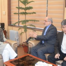 Iran Ambassador H.E Gholamreza Ansari today made a courtesy visit, various issues were discussed.