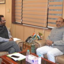 Manipur Chief Minister Shri N Biren Singh met me at Antyodaya Bhawan today. Various development projects in the state were discussed in detail.