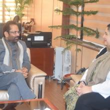 H.E. Ms Maram Al Saleh, Deputy Ambassador, Kingdom of Bahrain made a courtesy visit on 06-01-2017