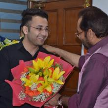Today felicitated youths belonging to Minority communities who have cleared civil services 2017 with the help of Minority Affairs Ministrys free coaching programmes. Wished them a bright future ahead
