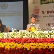 The Union Minister for Minority Affairs, Shri Mukhtar Abbas Naqvi at the inauguration of the Workshop for Inspecting Authorities of Maulana Azad Education Foundation, in New Delhi on January 13, 2018.