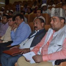 National Waqf Conference at New Delhi which discussed in detail protection and development of waqf properties. State waqf boards chairpersons, CEOs, members, Minority Affairs Ministry officials were present.