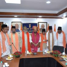 Today met various representatives of Dargah Ajmer Sharif at Antoydaya Bhawan and discussed in detail various issues concerned to the Dargah.