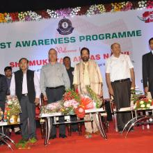 Informed common people and traders about benefits of GST at awareness programme in Hyderabad. Union Minister Sh Bandaru Dattatreya was also present. After GST, country has moved towards one nation, one tax.