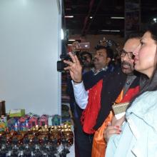 The Union Minister for Minority Affairs, Shri Mukhtar Abbas Naqvi inaugurating the Hunar Haat, at the 37th India International Trade Fair (IITF), at Pragati Maidan, in New Delhi on November 15, 2017.