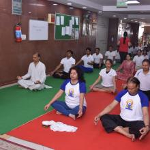 3rd  International Yoga Day celebrated in the premises of Ministry of Minority Affairs on 21st June,  2017.