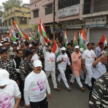 Participated in Run for Unity in Rampur with thousands of people from all sections of the society.