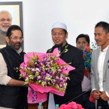 A delegation from Malaysia meeting the Union Minister for Minority Affairs, Shri Mukhtar Abbas Naqvi, in New Delhi on October 26, 2017.