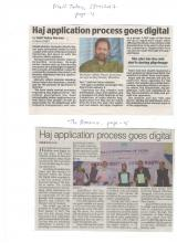Coverage of launch of Haj Committee of India Mobile App at Haj House, Mumbai, 3rd Jan Mail Today