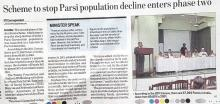 Jiyo Parsi Phase-II Campaign launched- Hindustan Times, 30 July 2017