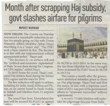 Relief for pilgrims as airfares slashed