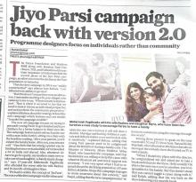 Jiyo Parsi Phase-II Campaign launched- The Times of India, 30 July 2017