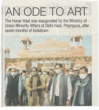Inaugurated Hunar Haat , being organised at Delhi Haat, Pitampura from 11th to 22nd November, 2020