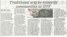 Traditional arts by minority communities at IITF, Delhi