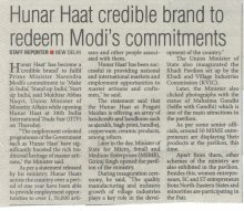 Hunar Haat at 38th India Interanational Trade Fair- The Pioneer
